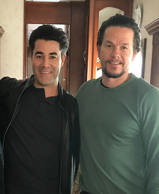 Jay Feldman and Mark Wahlberg, partners in Mark Wahlberg Chevrolet in Columbus, Ohio