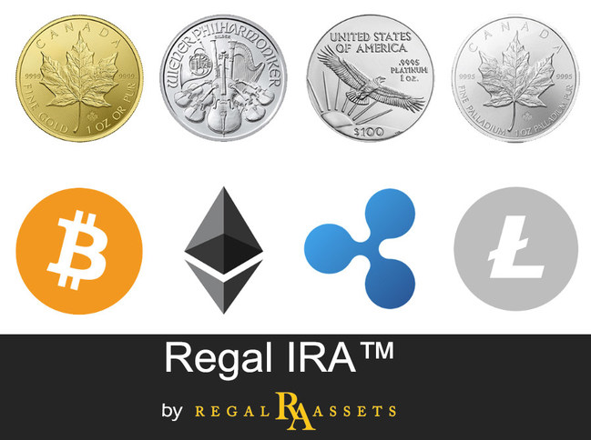 Regal IRA is America's first Alternative Assets Retirement Vehicle that includes both Metals and Cryptos