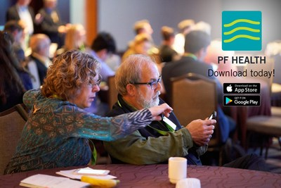 The new free mobile app, PF Health, is tailored to the needs of people living with pulmonary fibrosis. The app enables patients to track symptoms, share data with health care providers, participate in research and connect to the resources of the Pulmonary Fibrosis Foundation. The app is now available iPhone and Android.
