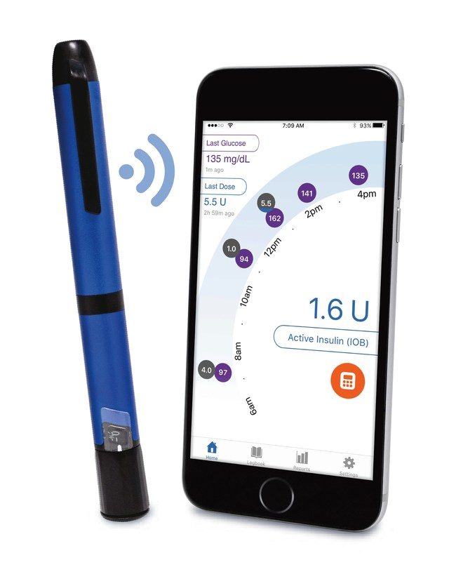 InPen works exactly like a traditional insulin pen but has Bluetooth® technology that connects to an easy-to-use smartphone app. InPen tracks each dose and delivers all of your data to the app on your smartphone. From there, the app calculates doses, displays blood glucose, and tracks insulin levels, storing up to a year of data.