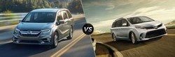 Compare the 2019 Honda Odyssey vs the 2018 Toyota Sienna on the Continental Honda website.