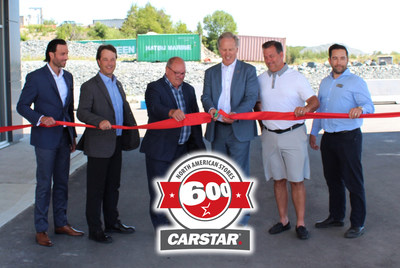 Left to Right: Michael Macaluso, President, CARSTAR; Collin Welsh, Director of Canadian Franchise Development, CARSTAR; Brian Bigger, Mayor of Sudbury; Vince Pollesel, Owner, CARSTAR Sudbury (Autoworks); Vince Palladino, Owner, CARSTAR Sudbury (Autoworks); Steve Primeau, Manager, CARSTAR Sudbury (Autoworks)