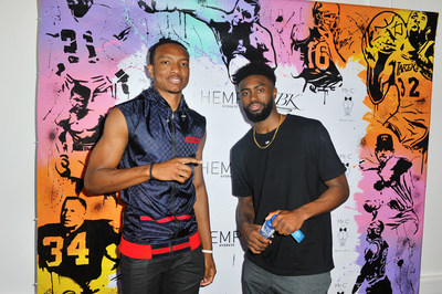 Wendell Carter and Jaylen Brown attend Hemp Hydrate & GBK Productions 2018 Pre-ESPY Lounge