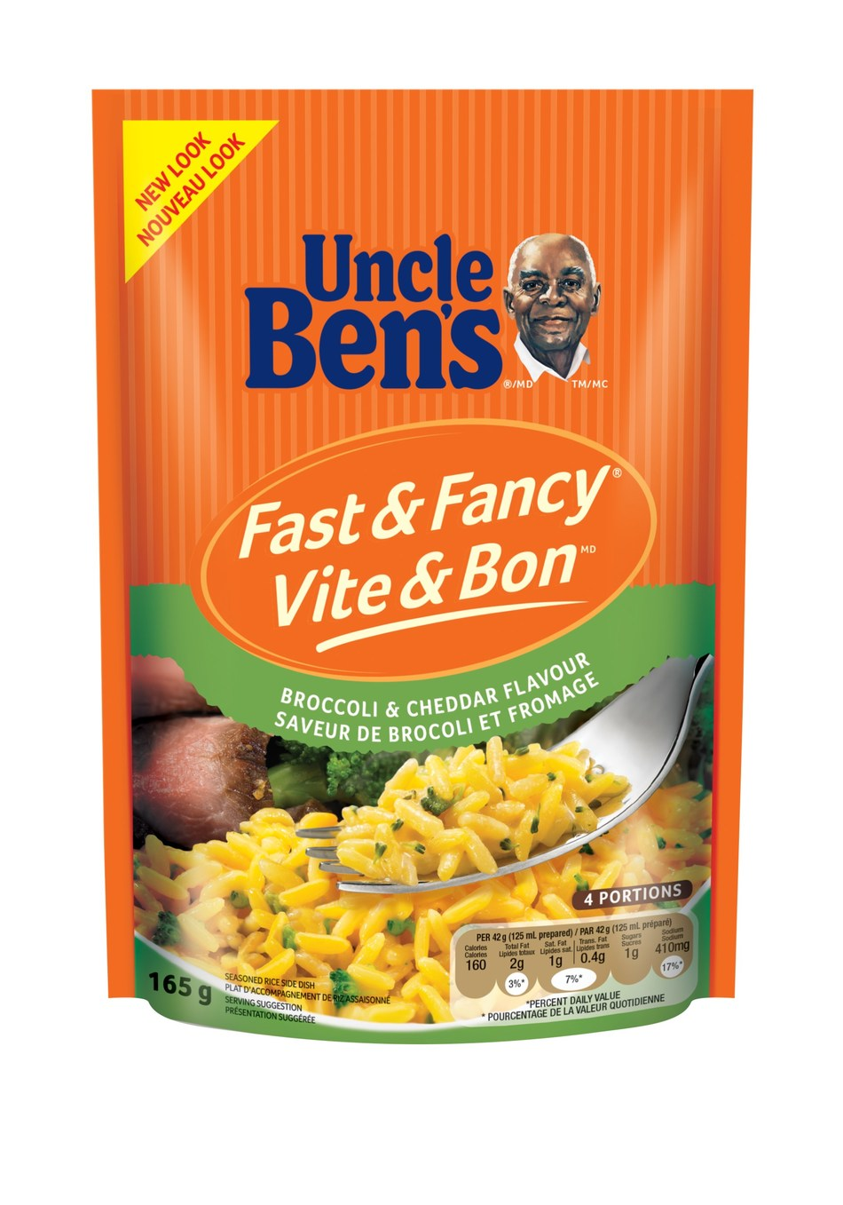 UNCLE BEN'S® Fast & Fancy® Broccoli and Cheddar Flavour (CNW Group/Mars Food Canada)