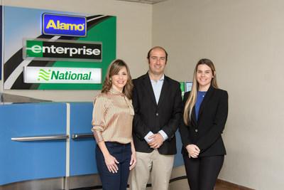 Desde la izquierda: Analie Prieto, gerente general de Motor Plan, franquiciada de Enterprise; José Muñiz, gerente de ventas de Enterprise, y Michelle Geara, gerente de marketing de Enterprise. (PRNewsfoto/Enterprise Holdings Inc.)