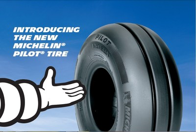 The new MICHELIN® PILOT® is  a tire designed for propeller-driven aircraft to provide extra-long tire life, exceptional tread life and all-weather protection.