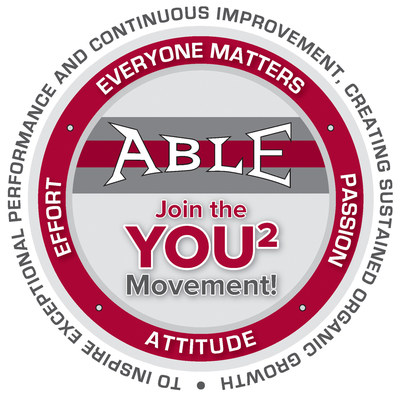 The YOU2 (squared) Movement Medallion employees receive at Able for outstanding contributions to the workplace. The movement, created by employees at Able, is expected to suffuse company policy and principles as more employees receive the medallions.