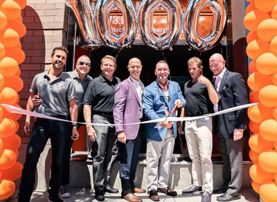 This past Saturday, Orangetheory opened the doors to its 1,000th studio - located in Portland, Oregon. The opening of the 1,000th studio aims to expand Orangetheory's community and encourage more life to all through the science-backed, technology tracked workout. (Left to right: Kevin Keith, Paul Reuter, Dave Hardy, Dave Long, Jamie Weeks, Jerome Kern, Dave Carney).Photo by Andrew Wrisley