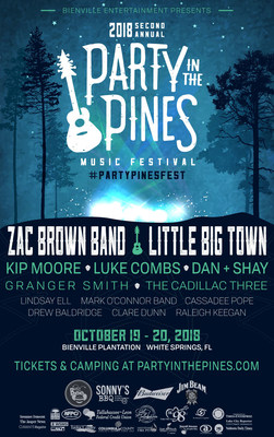 Party In The Pines country music festival features Zac Brown Band, Little Big Town, Dan + Shay, Granger Smith and more