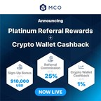 CRYPTO.com's MCO Launches Platinum Referral Rewards and Crypto Wallet Cashback