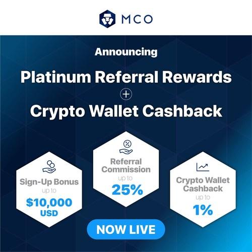 CRYPTO.com's MCO Launches Platinum Referral Rewards and Crypto Wallet Cashback (PRNewsfoto/CRYPTO.com)