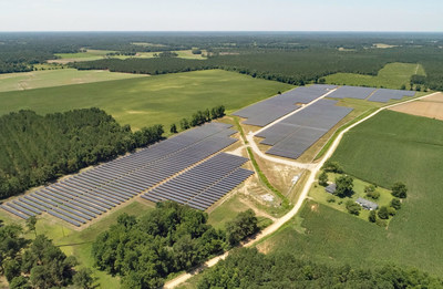 Shared Solar for Duke Energy: The Whitney M. Slater Shared Solar Facility, developed by Pine Gate Renewables, and located in Dillon County near Lake View, S.C.