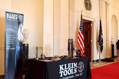 The Klein Tools booth at the White House for its 'Made in America' Showcase