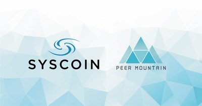 Peer Mountain Partners with Syscoin (PRNewsfoto/Peer Mountain)