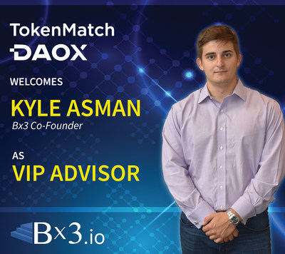 Bx3 Co-Founder Tapped as VIP Advisor to TokenMatch