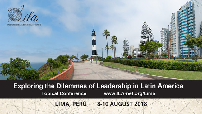 The International Leadership Association returns to Latin America for its 2nd Latin American leadership conference in partnership with The Center for Leadership, Ethics and Social Responsibility at Universidad del Pacífico. Exploring the Dilemmas of Leadership in Latin America will take place 8-10 August at the university's beautiful facilities in the heart of Lima, Perú. Complete details for the conference may be found at: ila-net.org/Lima.