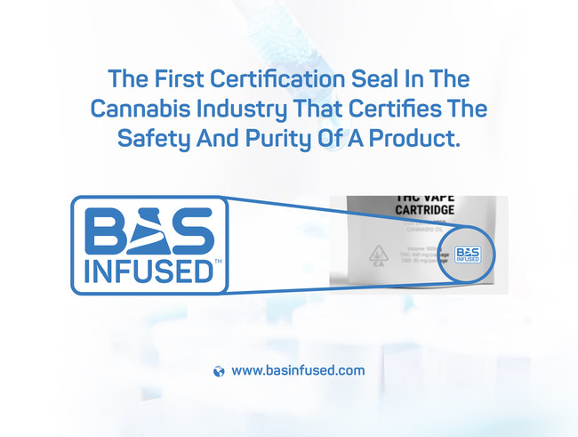 BAS Research recently introduced their BAS Infused™ certification seal which will be prominently displayed on the packaging of any cannabis product containing BAS advance science-driven oil.