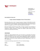 Seaspan Announces Redemption of Series F Preferred Shares (CNW Group/Seaspan Corporation)