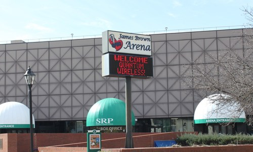 The new Quantum Wireless system is designed to improve cell service inside James Brown Arena and The Bell Auditorium.