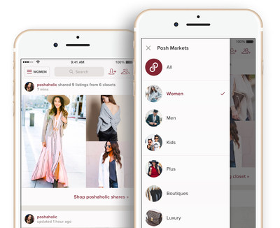 Poshmark launches posh markets bringing immersive for Apps similar to poshmark