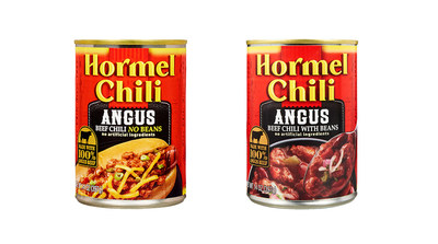 HORMEL® Angus Beef Chili With Bean and HORMEL® Angus Beef Chili No Bean