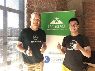 Pictured here: Ryley Iverson and Davie Lee, co-founders of the economic development startup, Townfolio. (CNW Group/Townfolio)