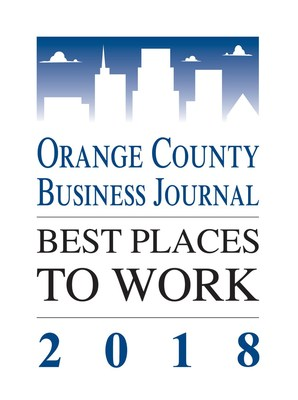 Orange County Business Journal, Best Places to Work 2018.