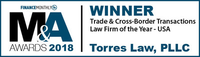 Finance Monthly names Torres Law the 'Trade & Cross-Border Transactions Law Firm of the Year' in the United States