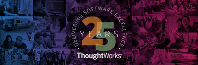 ThoughtWorks commemorates 25 years of delivering software excellence and innovation. Since 1993, ThoughtWorks has seen remarkable growth, from a small group in Chicago to more than 5,000 employees across 41 offices in 14 countries. Learn more at www.thoughtworks.com #25YearsInTech