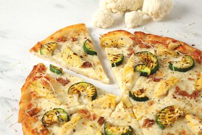 Pizza Pizza launches new cauliflower crust pizza in restaurants nationwide. The new pizza crust is the first cauliflower substitute at a quick service restaurant in Canada. (CNW Group/Pizza Pizza Limited)
