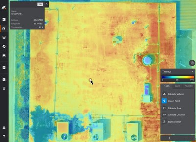 Kespry's thermal drone inspection solution provides radiometric temperature data, enabling pinpoint accuracy for identifying damage.