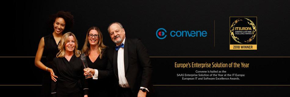 Azeus Convene: IT Europa's SaaS Enterprise Solution of the Year 2018 (PRNewsfoto/Azeus Convene)