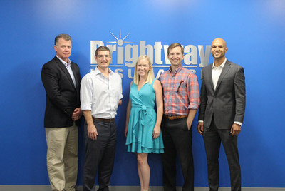 Brightway Insurance Agency Owners and their teams gathered at Brightway's Home Office in Jacksonville, Fla., for Training prior to opening their stores. (L to R): Michael Snow, Richard Ingram, Lauren Mathewson, Jackson Selvidge and Julio Rodriguez.