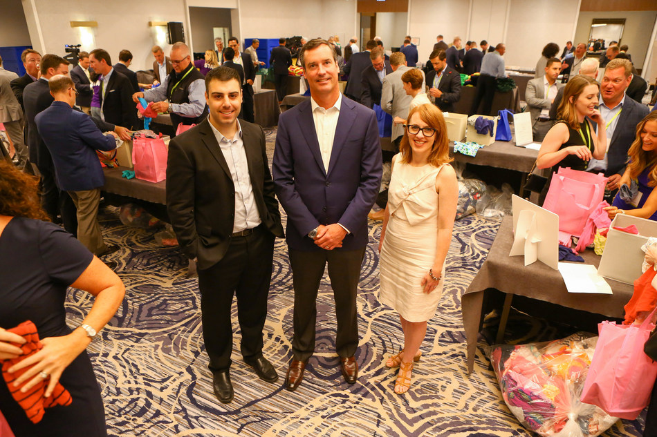 David L. Cotugno, Associate Director of Individual Philanthropy & Foundations, Cradles to Crayons; John McDonough, Head of Distribution and Marketing, OppenheimerFunds; Holly Allen, VP of External Affairs, Boys & Girls Clubs of Chicago. (PRNewsfoto/OppenheimerFunds)