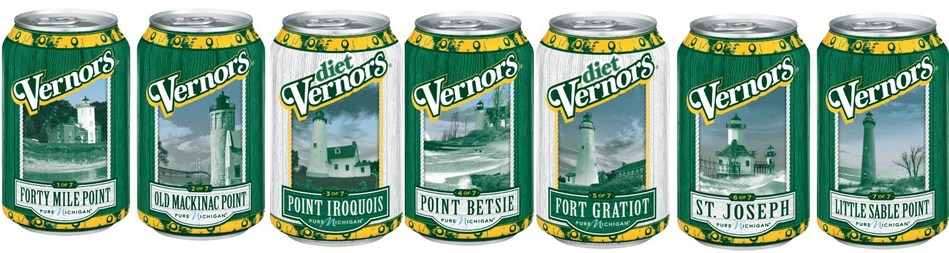 Vernors Celebrates Iconic Michigan Lighthouses on Collectible Cans