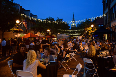 Enjoy al fresco dining in Annapolis's Arts District during Dinner Under the Stars