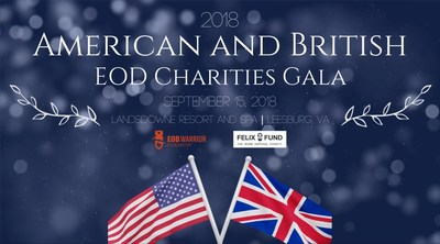 On Saturday, September 15, 2018 the 2nd joint event takes place at Lansdowne Resort in Leesburg. This event – hosted by Britain's Felix Fund and America's EOD Warrior Foundation – honors the EOD communities of both countries and raises funds for programs supporting their EOD warriors and families.