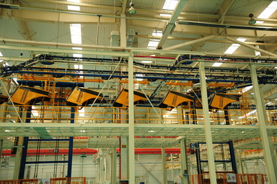 One of the Most Complex Power and Free Chain Conveyor Designs from XCMG.