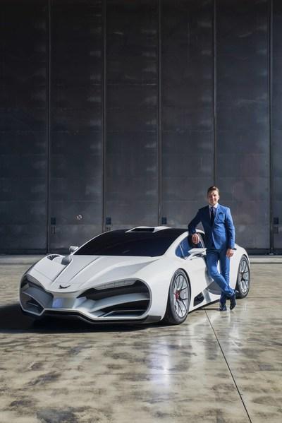 Copyright © MILAN Automotive GmbH, 2018   Markus D. Fux, CEO of Milan Automotive GmbH with the impressive super sports car Milan Red (PRNewsfoto/MILAN Automotive GmbH)
