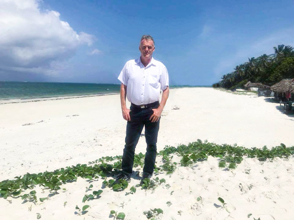 Kurt Svendheim, CEO of the New Nordic Group, the fastest growing resort and hotel chain in Asia, goes native on one of South East Asia's beautiful white sand beaches.