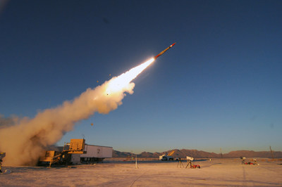 The PAC-3 Missile Segment Enhancement (MSE) interceptor set a distance record in its latest flight test with the longest one-shot hit-to-kill intercept against an Air-Breathing Threat at White Sands Missile Range on July 26.