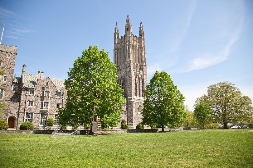 Princeton's Graduate College is one of nine campus locations where students, faculty and staff have around-the-clock access to rent an Enterprise CarShare vehicle. (Photo courtesy of Princeton University.)