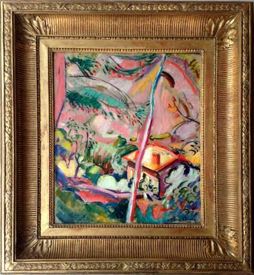 La Ciotat-Paysage, 1907, oil on canvas, 18 1/8 x 15 inches