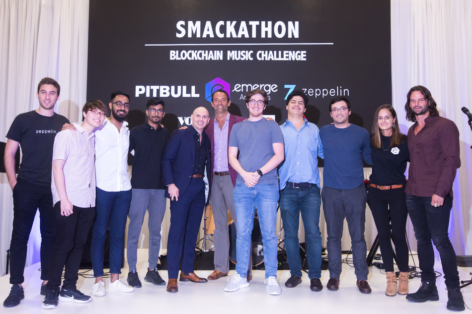 eMerge Americas, Pitbull, Zeppelin, Demian Brener, Jack Selby and Manny Medina Jr. name HyperValence as the winner of the Inaugural Smackathon