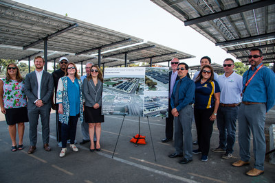 Representatives from Fresno USD, ForeFront Power, and SPURR gathered at McLane High School to celebrate construction of 8.2 megawatts (MW) of solar and energy storage across all comprehensive high schools and the District Service Center.