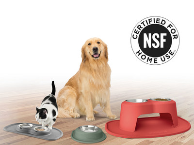 NSF International, a global public health and safety organization, has certified the stainless steel bowl in WeatherTech's PetComfort Feeding System – making it the first pet product to meet human standards for quality, performance and material safety.