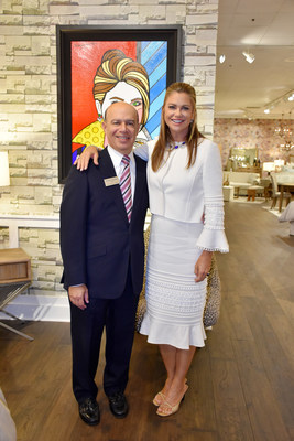 Kathy Ireland with Clark Linstone, President of Pacific Coast Lighting.