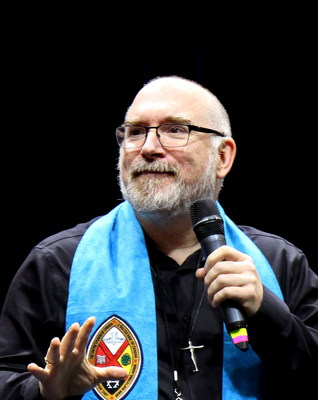 Rev. Richard Bott, 49, from Vancouver, B.C. is elected The United Church of Canada's 43rd Moderator at the 43rd General Council in Oshawa, Ontario on July 26, 2018. (CNW Group/United Church of Canada)