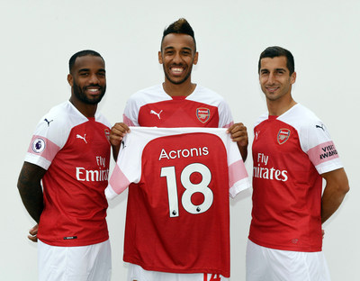 Acronis is announcing a technology partnership with Arsenal Football Club.