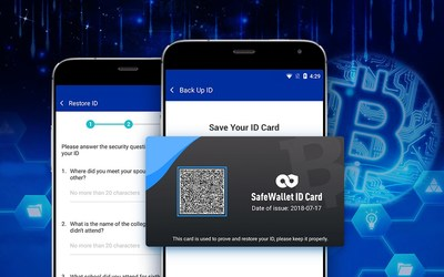 SafeWallet users can now recover their crypto-asset wallets using a simple two-layered security system consisting of a QR code-based user ID and a series of security questions